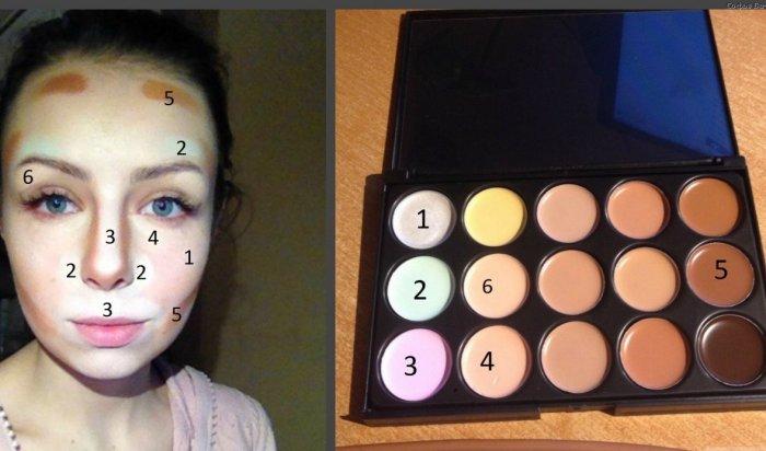 Цветокоррекцию лица