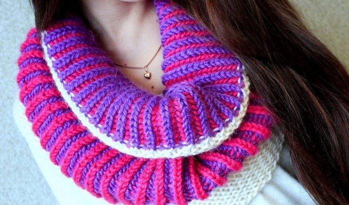 1521629482_8 Как связать простой шарф английской резинкой