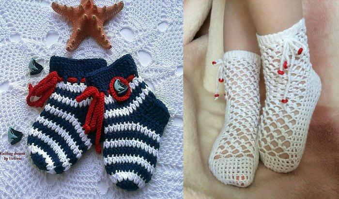 1522231489_novyy-kollazh3a Как связать носки крючком – пошагово для начинающих: носочки для детей, тапочки для взрослых.
