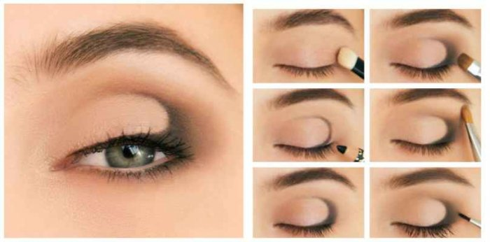Затемнить уголки глаз