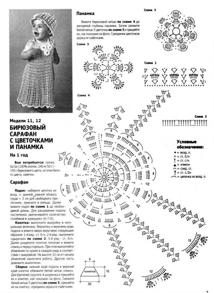 1522061730_2 Детские платья крючком со схемами и описанием