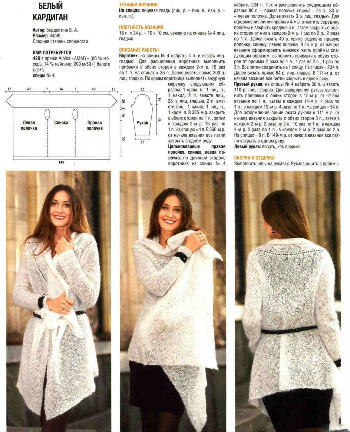 1522143438_nr Кардиган спицами 35 моделей с описанием и схемами, Вязание для женщин