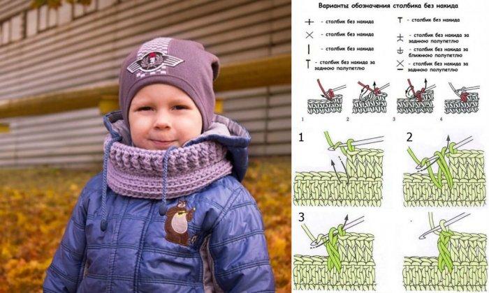 1522405941_8v Связать детский шарф спицами: для девочки, шарф снуд для мальчика, описание, схемы