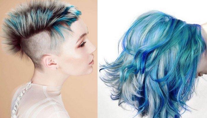 Интересное окрашивание волос