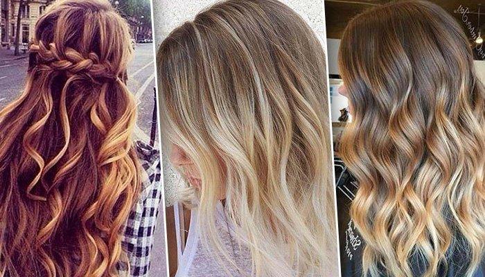 Балаяж для светлых волос