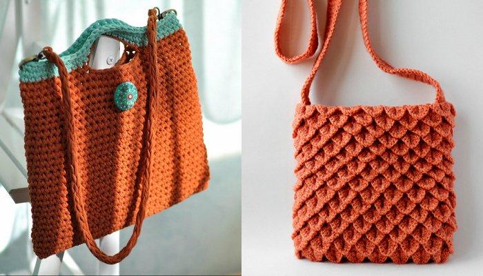 Вязаные сумки своими руками – фото идеи