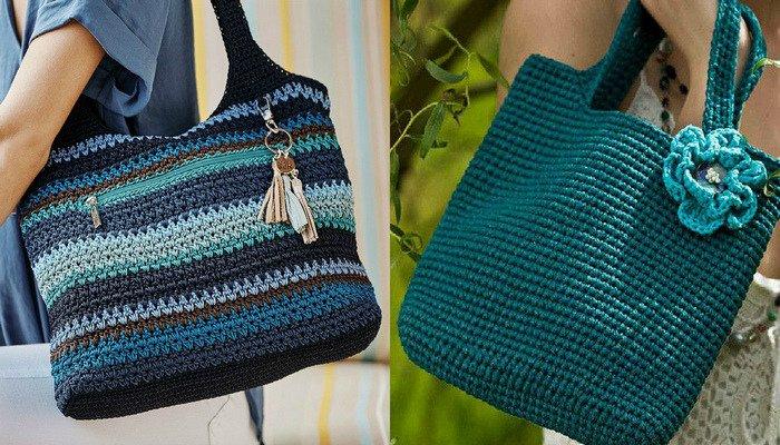 Идеи вязаных сумок