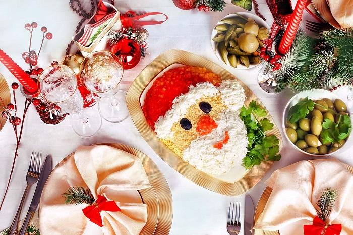 Традиционный новогодний стол особенности сервировки