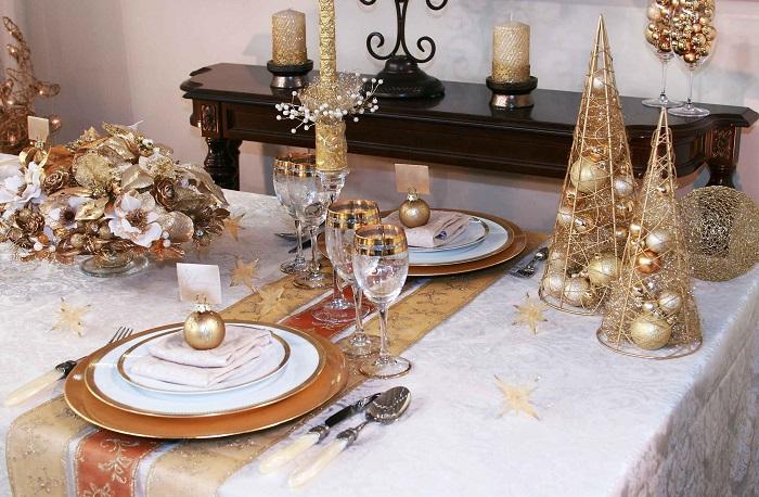 Выбор цветовой гаммы для новогоднего стола
