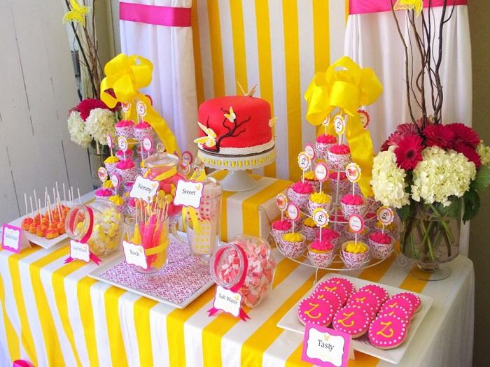 Украшаем сладкий стол на день рождения
