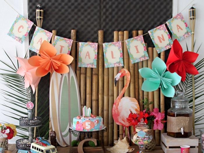 Гирлянды и флажки на день рождения ребенку